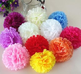 Wholesale Flowers Fence - Artificial flowers silk flowers wholesale carnation flower head making handmade DIY Style Fence