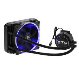 Argentina Sistema de refrigeración líquida para agua con congelador líquido VTG120 Ventilador para CPU Fluido dinámico Ventilador de 120mm con luz LED azul para computadora de escritorio supplier amd desktops Suministro