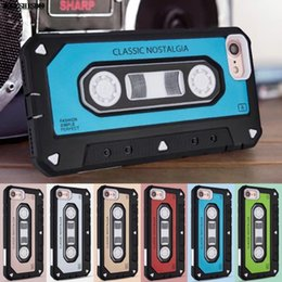 Wholesale Fit Tape - New Style Classic vintage tape Shockproof protective Cove for iphone X Case Dual Layer Hybrid Old Styles Tape Radio Original Cases