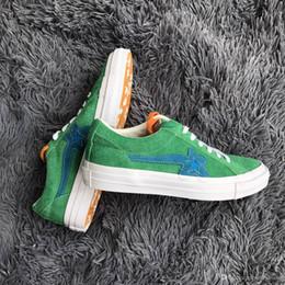 Wholesale mens floral - (With Shoes Box)Men's Designer Tyler the Creator X One Star Golf le Fleur TTC Mens 12 NIB Solar Power Sneakers Trainers Shoes Canvas sh
