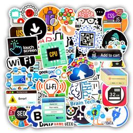 Programmation de pc en Ligne-50 PCS Étanche Logiciel De Langue Logiciel Stickers Pour Ordinateur Portable Autocollants Jouets pour Enfants DIY Ordinateur Portable Téléphone Haut-Parleur Cadeaux pour Geek Ingénieurs En Informatique