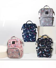 Wholesale Function Print - 14 Colors New Multifunctional Diaper Backpack Unicorn Bag Baby Mommy Changing Bag Mummy Backpack Nappy Mother Maternity Backpacks 1pcs