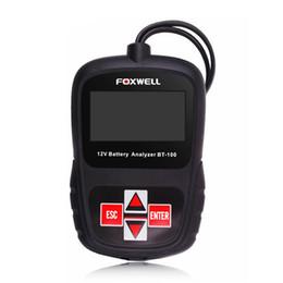 Argentina Analizador de batería de automóvil FOXWELL BT100 PRO 12V Probador de voltaje para Flooded / AGM / GEL BT100 Probador del sistema de carga del Analizador de batería Suministro