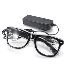 Wholesale Led Ice Glasses - LED light glasses Party toy glasses Ice blue