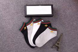 Canada Mode top qulity designer chaussettes de luxe marque brodé loup tête de tigre élastiquée cutton hommes chaussettes 4 paires avec boîte d'origine Offre