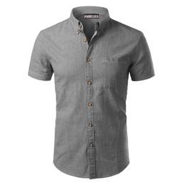 2020 diseños de camisas de rayas para hombre Camisa a rayas Hombre Nuevo diseño Manga corta Venta caliente Vestido para hombre Mierdas 100% Algodón Casual Camisa con botones para hombre Tallas grandes 4xl rebajas diseños de camisas de rayas para hombre