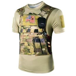 Deutschland 2018 neue Camouflage Männer 3D Stil Camouflage T Shirt taktische Kampf Sommer schnell trocknend T-Shirts Jagd Bekleidung Versorgung