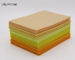 войлочные листы Скидка CMCYILING желтый войлок ремесло 1 мм чувствовал полиэфирные ткани листы для Искусства ремесла швейные скрапбукинга Fieltro Feltro текстиль