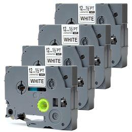 "P-touch Tape TZ231 TZe-231 TZ-231 TZe231 White Labeling Compatible for Brother PT-H100 PT-D200 PT-D210 PT-D400 PT-D600 PTD600VP 1 2"" x 26.2'"