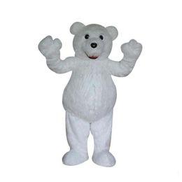 Trajes de personagens on-line-2018 hot new white bear mascot costume diy traje dos desenhos animados caráter traje do carnaval