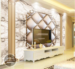Murais de pedra on-line-Personalizado 3d murais de parede papel de parede 3d foto papel de parede murais 3D macio ouro Roman Stone mural TV fundo papel de parede sala de estar papel de parede decoração