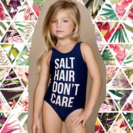 479b948c7eb1e Cute Summer girl one-piece swimsuit SALT HAIR DON T CARE Printed Swimsuit  Boutique clothes girls kids baby clothing 2052