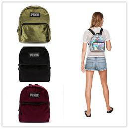 86c386b155e hologram backpacks Australia - Pink Letter Laser Backpack Women Girls Mini  Shoulder School Bag Hologram Flannel