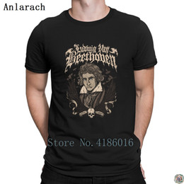 e2dfe8d2948 Death Metal Beethoven t-shirt stylish HipHop Top Spring Autumn Breathable  tshirt for men Clothes S-3xl Knitted Anlarach Leisure