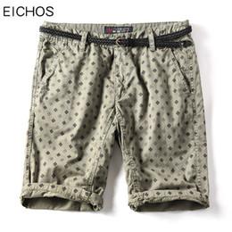Wholesale Pattern Board - EICHOS Summer New Print Bermuda Shorts Men Cotton Brand Knee Length Straight Casual Pattern Beach Board Shorts Large Size 40