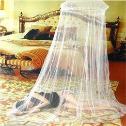 2019 ropa de cama princesa moderna Envío libre ventas al por mayor de Insectos de Encaje Redondo Cama de Insectos Canopy Netting Cortina Hung Dome Mosquito Nets