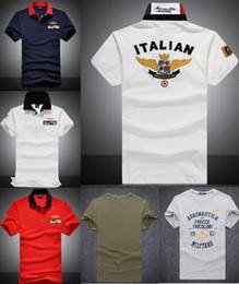 Wholesale Watches Polo - 2018 Men's Polos italian European Union flag Summer Short-Sleeves embroidery breathable Black Watch polo team Tees S-XXL size cotton 100%