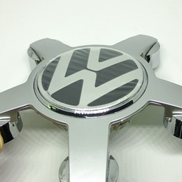 Wholesale Emblem Wheel Center - high quality 4pcs lot 135mm ABS Wheel Emblem Hub Center Caps Cover Car Logo Decorative Center for VW Volkswagen