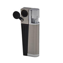 Vapor de erva mais leve on-line-Mão Smoking Tobacco pipe Clique N Vape roubar um Vape fumo do metal da tubulação Herbal vaporizador portátil para a seco erva com isqueiro Tocha