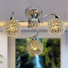 simple round crystal lighting Coupons - Modern crystal chandelier living room lights LED restaurant chandeliers round creative bedroom lights simple fashion