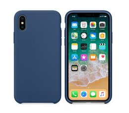 Wholesale iphone original case - FDMCK Official Original Logo Silicone Case Coque For iphone X 7 8 plus Cover For iphoneX cases For iPhone7 Retail Box