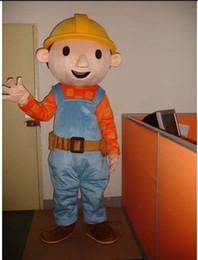 Wholesale Making Cartoon Movies - Adult Size Bob The Builder Mascot Costume Cartoon Fancy Dress