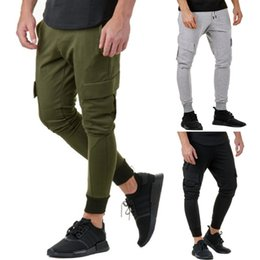 2019 стильный дизайн брюк Стильный и модный дизайн мужская повседневная Осень Зима хлопок хип-хоп спортивные брюки бегунов брюки-карго #81425 дешево стильный дизайн брюк