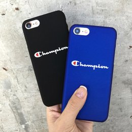 Wholesale trends for phone cases - For Iphone X Phone Cases Trend Brand Simple English Blue Ultra-Thin Matte Hard PC Cell Phone Case For Iphone 6 7 5 Plus
