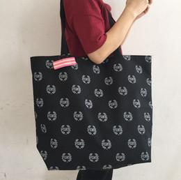 extra großer strand Rabatt VS Schwarze Frauen-Segeltuch-Tasche Rosa Tote-weibliche Strand-Tasche große Kapazitäts-Schulter-Einkaufstasche-Blumenhandtasche D18102407