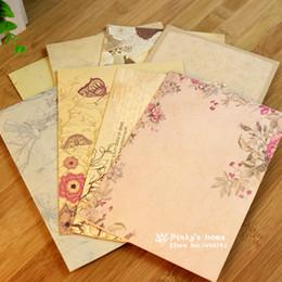 Wholesale Vintage Letter Paper Envelopes - Wholesale- (10 pieces lot) Vintage Flower Envelops Country Style Retro Love Letter Envelope Cute Letter Paper Envelops