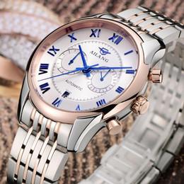 AILANG Hommes Vintage Roman Robe Montres Automatique Auto Vent Déclaration Commerciale Horloge Plein Calendrier En Acier Montre-Bracelet 3ATM NW7197 ? partir de fabricateur