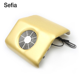 Wholesale Fan Nails Tips - Sefia Electric Nail Art Suction Manicure Tools Nail Dust Collector For Salon Fan Vacuum Cleaner Machine Acrylic Uv Gel Tip 2bag