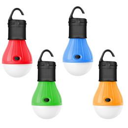 Bombilla led batería para linterna online-Paquete de 4 LED portátil Tienda de faroles de linterna Bombilla de luz de acampada al aire libre llevó la lámpara de la linterna para viajar Camping Hiki