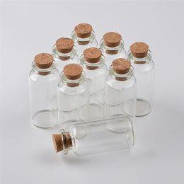27X58X12.5 millimètres 20ml bouteilles de parfum en verre vides petits pots en verre avec des pendentifs décoratifs de fiole en verre de liège 100 pcs ? partir de fabricateur