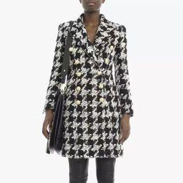 модная коллекция одежды Скидка 2018 New Fashion Autumn Show Style Collection Long Sleeve Plaid Coat Nylon Midi Dresses Casual Jacket Coat Party Date Wholesale