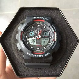 Wholesale Military Watches G Shock - 2018 Hot Selling Luxury Brand Watches for Man Digital Military Army G Style Shock Sports Watch AAA Quality Clock Wristwatches montre homme