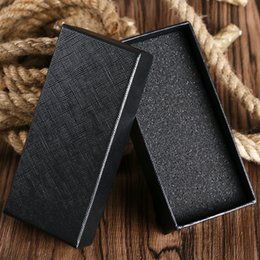 Wholesale display boxes watch packaging - Wholesale Simple Watch Boxes and Packaging Rectangle Organizer Storage with Sponge Pad Black Display Case For Wristatches Clock No Brand