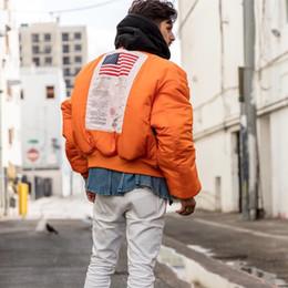 Wholesale Winter Jacket Pattern - Fashion MA1 Winter Vetements Oversize Warm windproof Men Hoodies Women Pilot America Flag Two sides wear Jacket Thick zipper Sports Coat