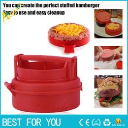 Wholesale Hamburger Tool - New Stuffed Burger Making Press Hamburger and Meat Patties Maker Kitchen Cooking Tool