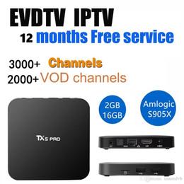 Wholesale Arabic Boxes - TX5 pro 2+16GB Android TV BOX with EVDTV IPTV ARABIC Greek Turkish French Italy France UK USA Brazil Latin IPTV box KD 17.3 h.265 4k Video