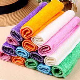 limpador de almofadas Desconto 5 Pcs Cozinha Anti-gordura wipping rags eficiente Fibra De Bambu Pano De Limpeza casa prato de lavar roupa Multifuncional Ferramentas de Limpeza