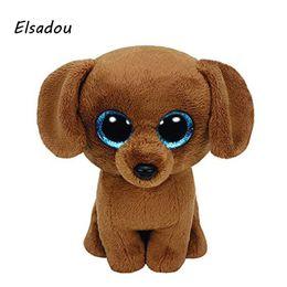 Wholesale White Dog Stuffed Animal Wholesale - Elsadou Ty Beanie Boos Stuffed & Plush Animals Yellow Dog Toy Doll