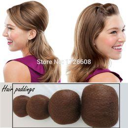 Acolchado sintético de pelo redondo Volumen extra Updo Ex Inserción voluminosa grande Updos Postizos crean peinados voluminosos voluminosos desde fabricantes