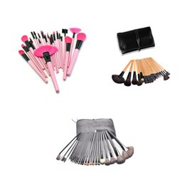 Wholesale Wholesale Eye Brow Brushes - 24pcs Makeup Brushes Set Beauty Foundation Power Blush Eye Shadow Brow Lash Fan Lip Face Make Up kabuki Tool Brush Kit