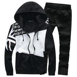 Wholesale Long Zip Sweaters - Spring Autumn Hoodie Sweater Jacket +Joggers Sweatpants Man Printing Suits Sportwear Designer Tracksuit Fight Color