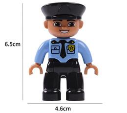 Wholesale Toy Building Block Pirates - 100pcs DHL DIY Figures Brick Policeman Fireman Engineer Pirate Thief DIY Building Blocks Bricks Toy Brick Compatible with Duplo