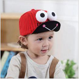 2018 Boy Girl Big Eye Frogs Sombreros Niños Gorras de béisbol Visor Niños Niñas Animales de dibujos animados Modelo Sombrero Coreano Niños Casquillo 1-4 Años 10pcs / lot desde fabricantes