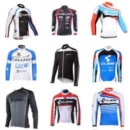 Wholesale Cube Long Sleeve Cycling Top - COLNAGO CUBE team Cycling long Sleeves jersey Quick Dry Bike Wear MTB Road Racing ropa ciclismo Size XS-4XL C2904