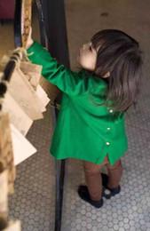 chaqueta verde para niños niña Rebajas 2017 bebés cubren la chaqueta verde del invierno y del otoño de los niños