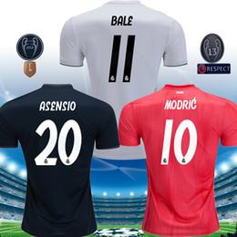 Top 2018 2019 Champion league soccer jerseys 2019 Real madrid MARIANO ISCO  MODRIC football Kit shirt 18 19 Camiseta KROOS maillot 558804c5b
